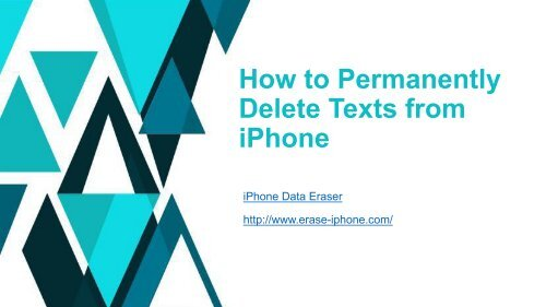 How to Permanently Delete Text Messages