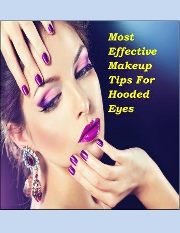 Eye Makeup Tips For Hooded Eyes