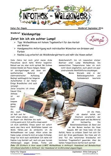 Infothek Waldkinder - Unser Textiltipp für den Wald von Lumpi
