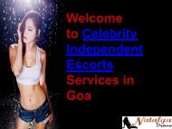 Fresh Celebrity Escorts in Goa for Erotic Services