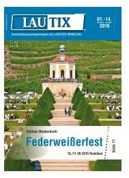 Lautix – Das Veranstaltungsanzeigenmagazin | 01.-14. September 2016