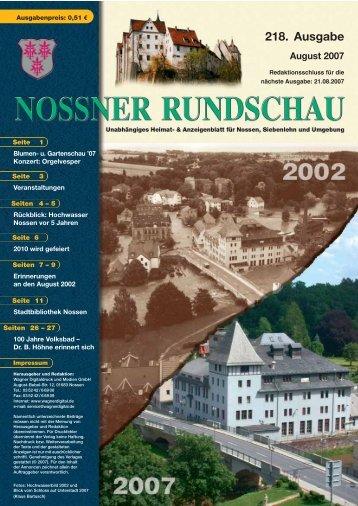 218. Ausgabe - Nossner Rundschau