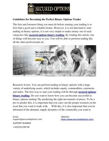 Guidelines for Becoming the Perfect Binary Options Trader