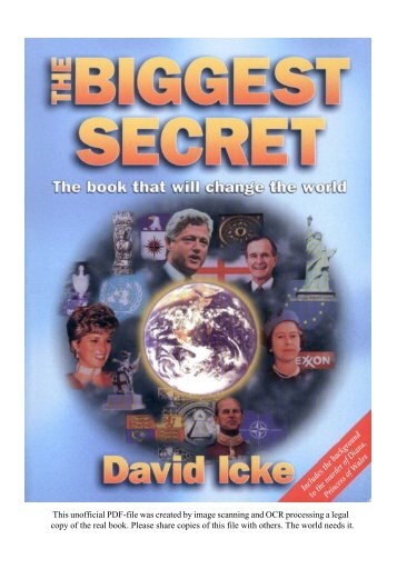 The Biggest Secret by David Icke