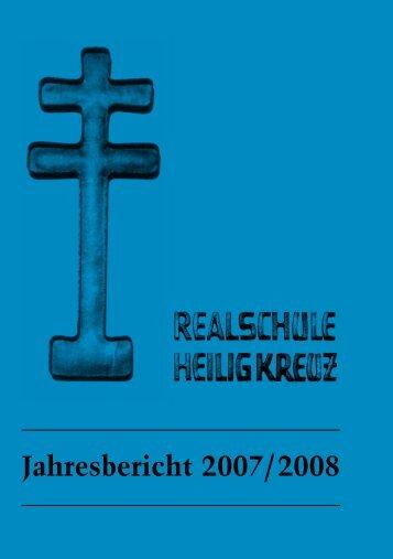 Jahresbericht 2007/2008 - Internat Heilig Kreuz