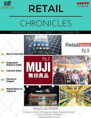 Retail Chronicles Issue 2 (1 to 15 September)