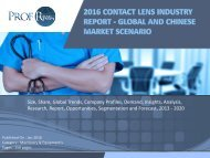 Contact Lens Industry, 2011-2021 Market Research