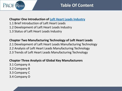 Left Heart Leads Industry, 2011-2021 Market Research According to Global and Chinese Market