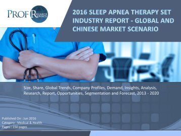 Sleep Apnea Therapy Set Industry, 2011-2021 Market Research