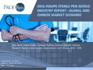 Insupe Sterile Pen Needle Industry, 2011-2021 Market Research