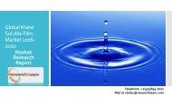 Global Water Soluble Film Market 2016-2020