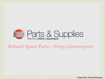 Buy Roland Spare Parts at Printers Parts Shop
