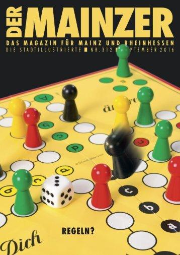 DER MAINZER - Das Magazin für Mainz und Rheinhessen - Nr. 312 - September 2016