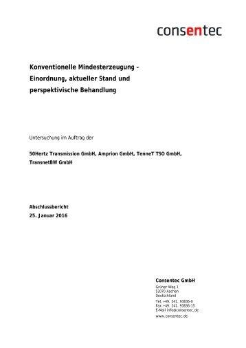 Studie zur Konventionellen Mindesterzeugung