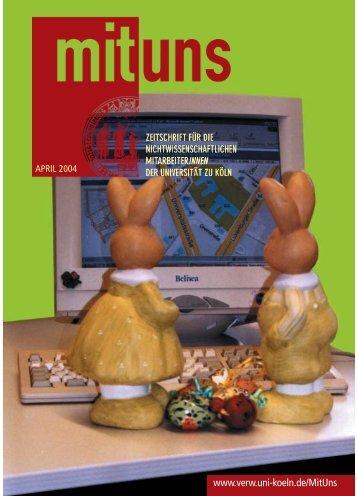 Kulturelles Veran- staltungsverzeichnis - Universität zu Köln