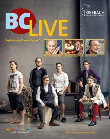 BCLive - Spielzeit Sep-Dez 2016