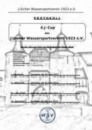 Protokoll J-Cup in Jülich - Jülicher Wassersportverein