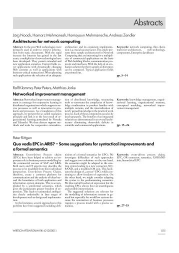 WI Ausgabe 01/2000: Abstracts