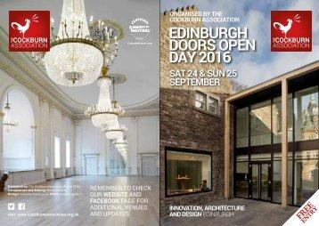 EDINBURGH DOORS OPEN DAY 2016