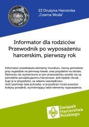Informator dla rodziców: mundur i sprzęt