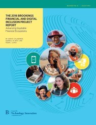 THE 2016 BROOKINGS FINANCIAL AND DIGITAL INCLUSION PROJECT REPORT