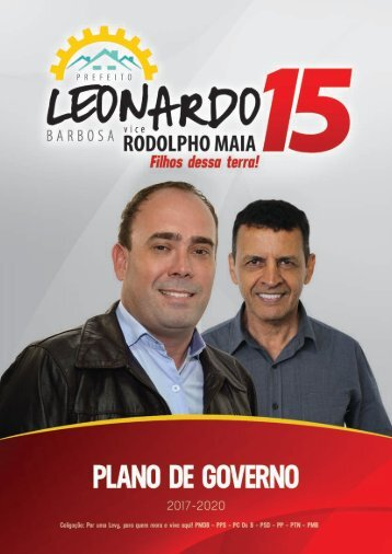 Plano de Governo - Leonardo Barbosa