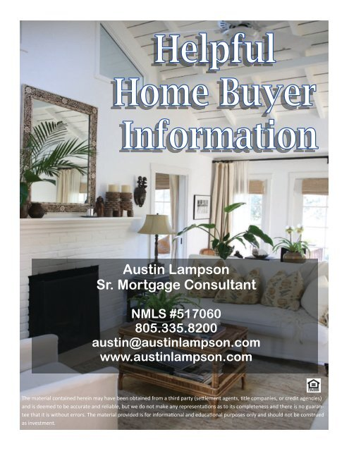 Helpful Home Buyer Information Booklet