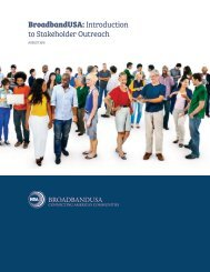 BroadbandUSA Introduction to Stakeholder Outreach