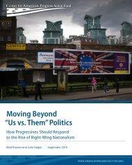 "Moving Beyond ""Us vs Them"" Politics"