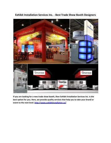 Exhibit Installation Services Inc. - Best Trade Show Booth Designers