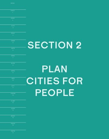 SECTION 2 PLAN CITIES FOR PEOPLE