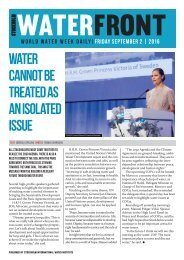 World Water Week Daily Friday 2 September, 2016
