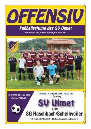 Offensiv: SV Ulmet gegen SG Haschbach/Schellweiler