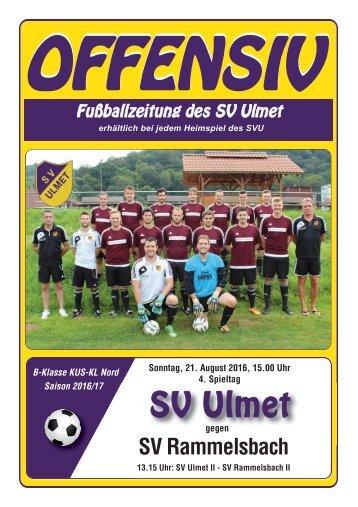 Offensiv: SV Ulmet gegen SV Rammelsbach