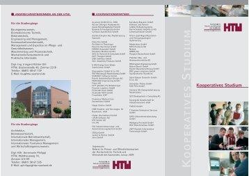 Kooperatives Studium - an der Hochschule für Technik und ...