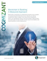 • Blockchain in Banking A Measured Approach