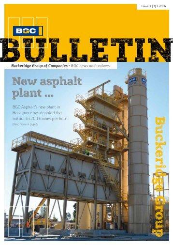BGC BULLETIN | Issue 3 | Q3 2016