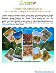 Wonderful natural treasures that Thailand tour packages from Mumbai offers to you