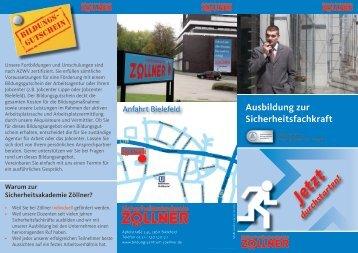 Ausbildung zur Sicherheitsfachkraft - Bildungszentrum Zöllner und VA