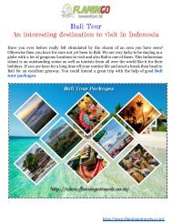 Bali Tour packages: An interesting vacation spot to go to in Indonesia