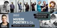 Ostenhell präsentiert: Musik, Poetry & Co im domicil (2. Halbjahr 2016)