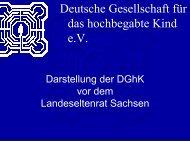 zuwendung Hoch- begabung - Landeselternrat Sachsen
