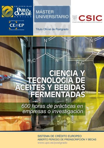 CIENCIA Y TECNOLOGÍA DE ACEITES Y BEBIDAS FERMENTADAS