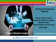 LTE And LTE Advance Market Value Share, Supply Demand, share and Value Chain 2015-2025