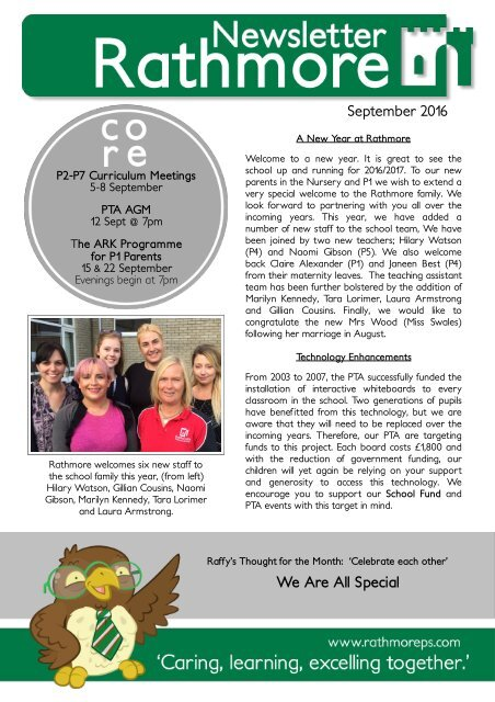 September Newsletter 2016