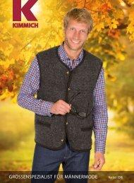 Kimmich Mode-Versand | Größenspezialist für Männermode | Herbst 2016