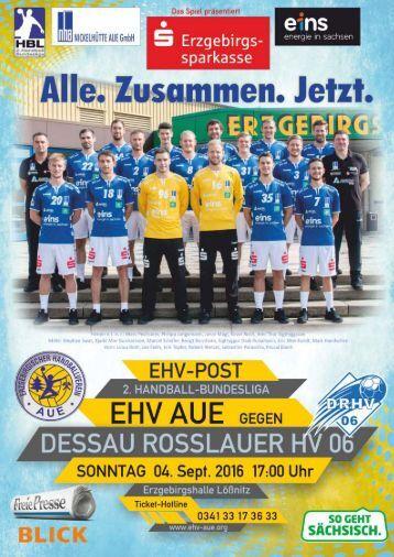 EHV Post EHV Aue gegen Dessau Rosslauer HV 06