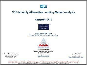 CEO Monthly Alternative Lending Market Analysis