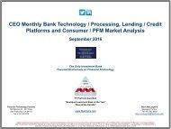 Platforms and Consumer / PFM Market Analysis