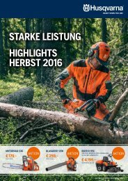 HUSQVARNA Herbstaktion 2016